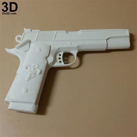 3d Gun 3d printable model squad joker 1911 colt pistol