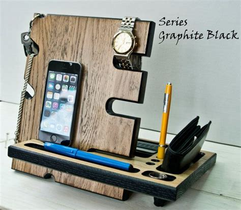 Wooden Stand Desk Accessories Wood Iphone Dock Apple Gift Ideas For Office Desk