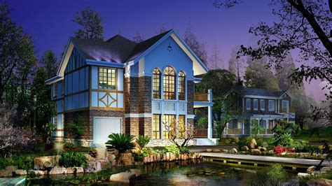 beautiful house music digital art beautiful house and garden picture nr 60798