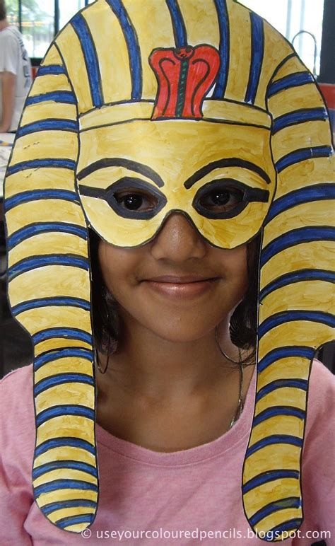king tut mask template use your coloured pencils tutankhamun masks