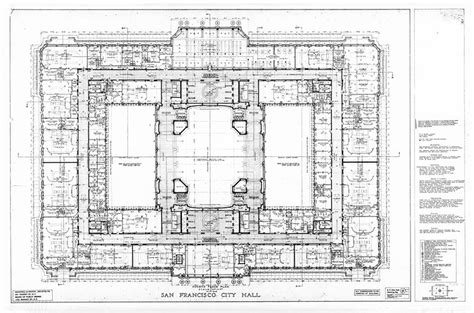 san francisco city hall floor plan fourth floor plan san francisco city hall drawing no 12