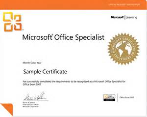 Microsoft Licensing Specialist Sle Resume by Mos Certification Of Sindh Official Website