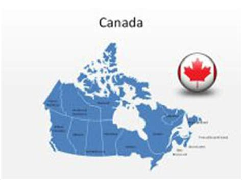 powerpoint design canada download high quality royalty free canada powerpoint map