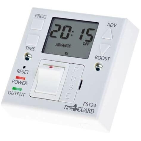 Digital Timer 24 Hours Immersion Heater Timer timeguard fst24 24hr fused spur timeswitch storage immersion heater timer fst11 ebay