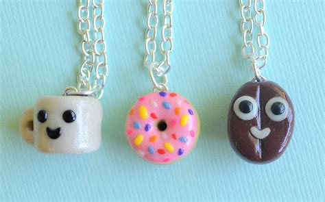 3 best friend necklaces polymer clay polymer clay charms