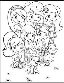 strawberry shortcake together with friends coloring pages