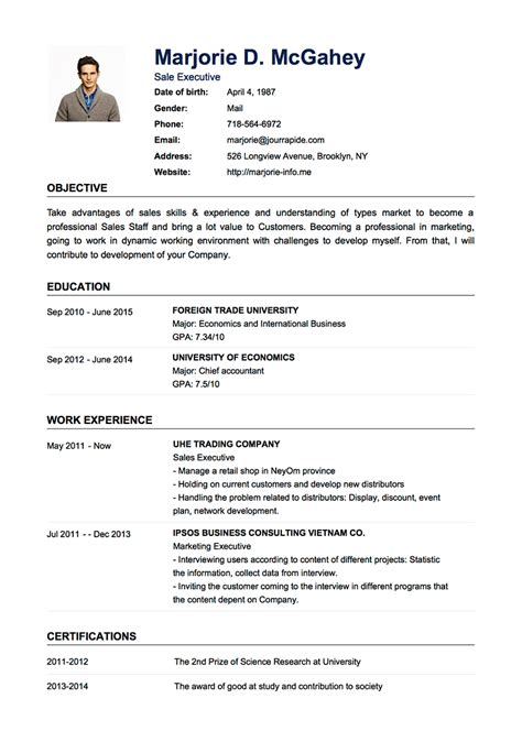 About Me Resume by Professional Resume Cv Templates With Exles Topcv Me