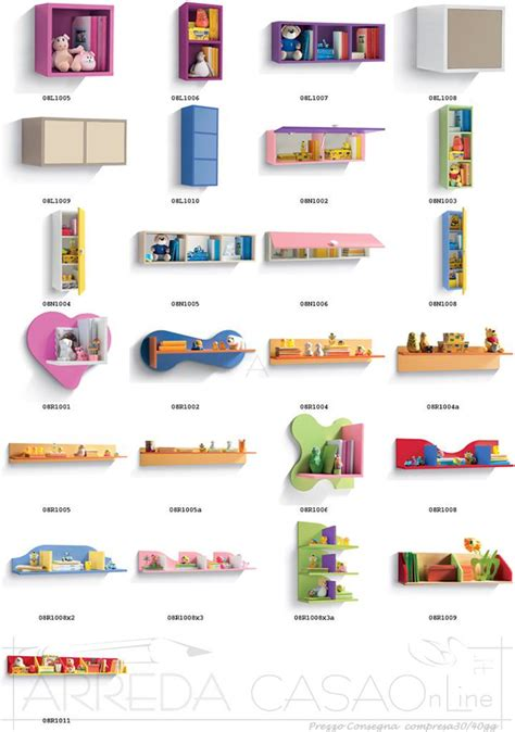 mensole cameretta bimbi libreria e scrivania cameretta bambini gt0020lib prezzo