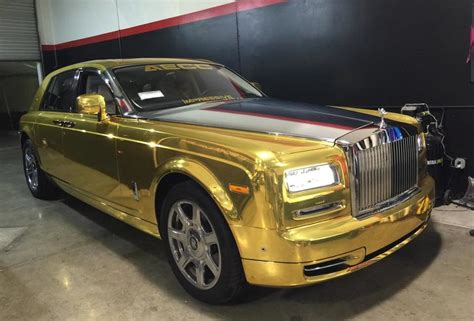 Tuningcars Gold Chrome Rolls Royce Phantom