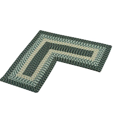l shaped rugs l shaped corner braided rug by collections etc ebay