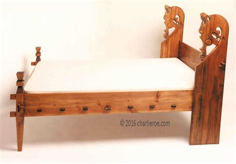 viking bed new carved wood viking dragon revival bed furniture