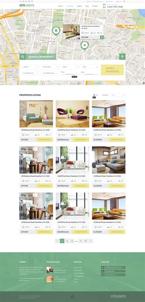 grid layout joomla citilights real estate joomla template by juxtheme