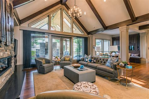 cathedral ceiling living room 45 beautifully decorated living rooms pictures