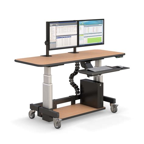 Height Adjustable Sit Stand Desk Afcindustries Com Electronic Height Adjustable Desk