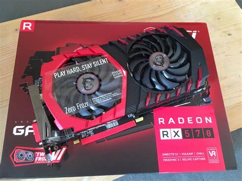 Vga Card Msi Radeon Rx 570 Gaming X 4g msi radeon rx 570 gaming x being sold on ebay for 380 us