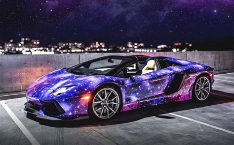 matte galaxy lamborghini galaxy themed lamborghini aventador roadster from canada
