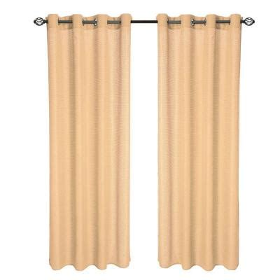 drapes 108 length lavish home gold olivia jacquard grommet curtain panel