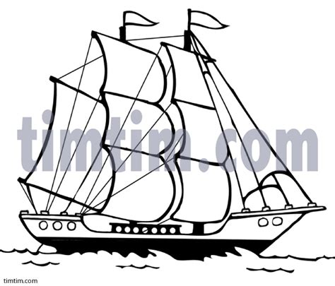 how to draw a boat with sails drawn sailing ship sailboat pencil and in color drawn