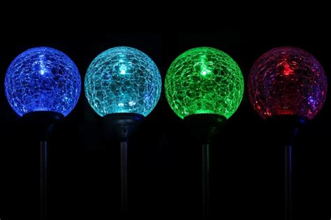 solar led light for globes solar led color changing crackle garden glass globe balls
