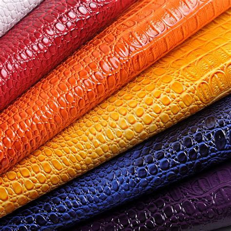 fabric for furniture upholstery 50x135cm faux crocodile leather sofa material vinyl