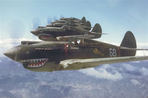 Curtiss P-40 Warhawk: One of WW II's Most Famous Fighters ... P 40 Warhawk