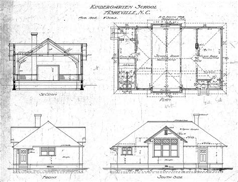 Kindergarten School Section Plan And Elevations Lindley Floor Plans And Elevations Of Houses