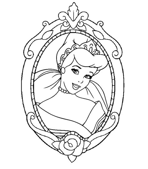 Disney Princesses Coloring Page Coloring Home Princess Colouring Pages Free Printable