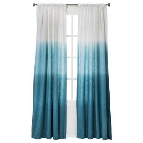 Ombre Window Curtains Threshold Blue Ombre Stripe Window Curtain Panel 84 Quot Target Teal New