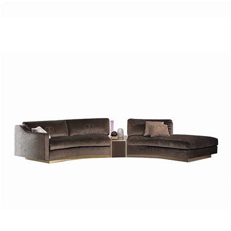 Curved Modular Sofa Touched D Upholstered Modular Curved Roxana Sofa With Upholstered Drawer