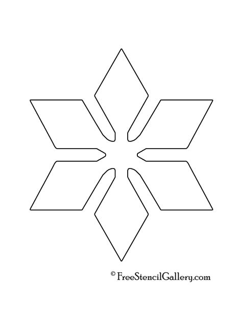 printable snowflake template 6 best images of free winter printable stencils