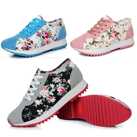 womens running shoes for flat new sneakers and flats sole print
