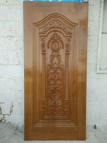 wood natural brown wooden carving  doors rs