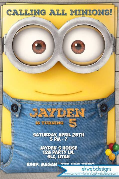 25 Best Ideas About Minion Birthday Invitations On Pinterest Minions Birthday Theme Minion Minion Invitation Template