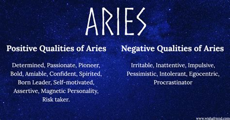 aries negative characteristics find positives and negatives of your zodiac sign aries