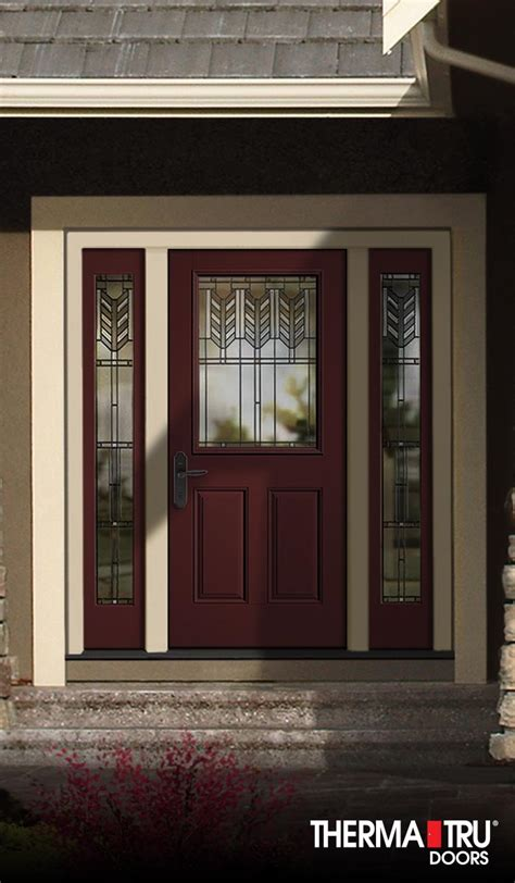 Therma Tru Classic Craft Canvas Collection Fiberglass Door Thermatru Exterior Doors
