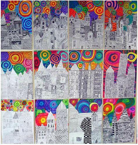 pattern art lesson plan dans la ville y a des maisons les cahiers de jos 233 phine