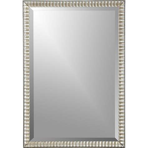 Overstock Home Decor by Silver Ripple Wall Mirror Crate And Barrel
