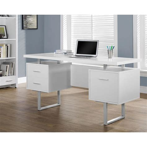 Monarch Desk by Monarch Specialties White Desk With Drawers I 7081 The