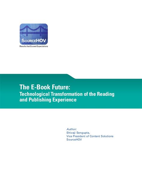 Ebooks The Future Of Reading by E Books Future Technological Transformation Of The