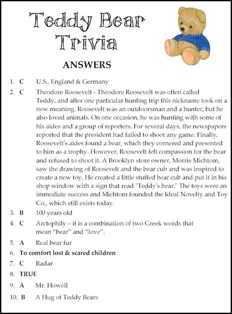 Baby Shower Trivia Printable by Free Teddy Ready To Print Play