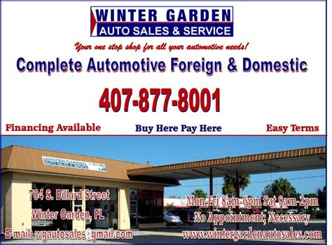 auto repair winter garden fl winter garden auto sales service 704 s dillard st winter