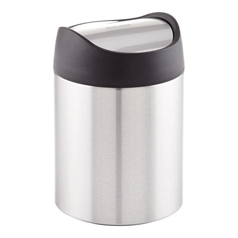 swing lid trash can simplehuman stainless steel swing lid countertop trash can