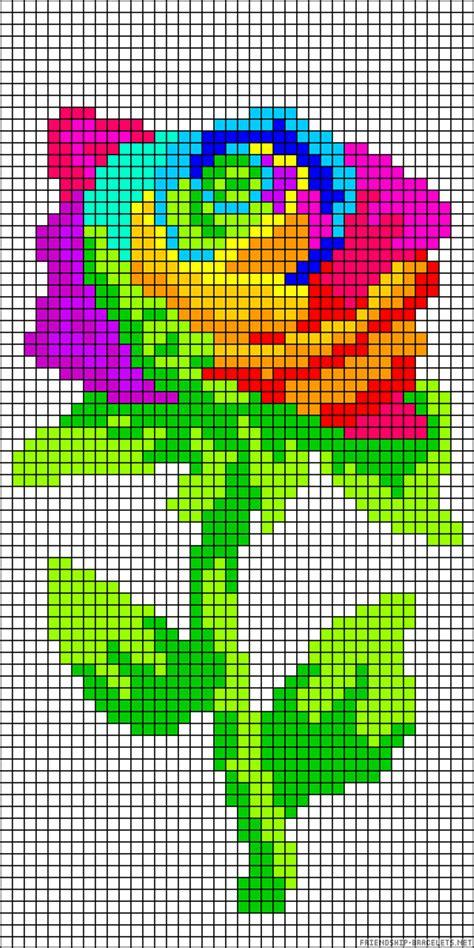 perler bead flower patterns rainbow flower perler bead pattern kandi perlers