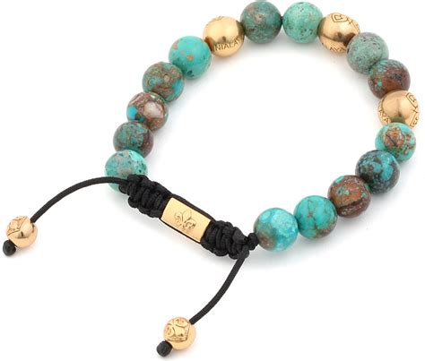 And Bracelet nialaya turquoise and gold bracelet in blue for lyst