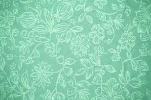 Shabby Chic Curtain Material Mint Green Fabric With Floral Pattern Texture Picture
