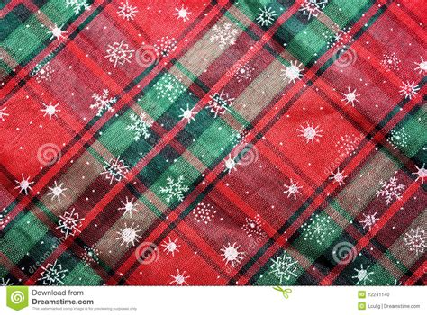 plaid tablecloth christmas