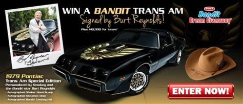 Trans Am Giveaway - 1979 bandit pontiac trans am plus 10 000 for taxes