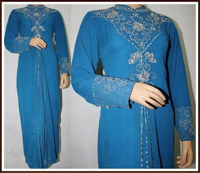 Special Mukena Najwa White Blue Anggun seri anggun collection jubah nadya s 3xl