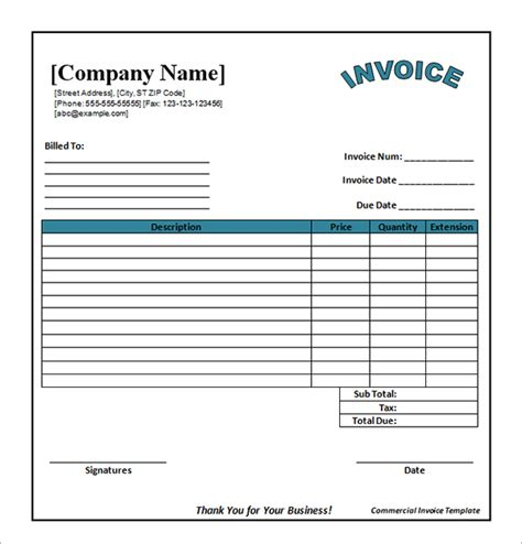 Catering Invoice Template Word catering invoice template free templates