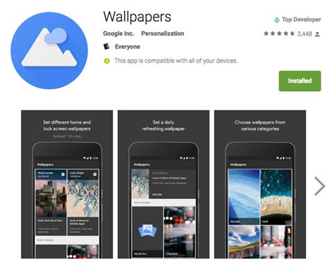 google wallpaper shop google lanza la app de wallpaper en la google play store